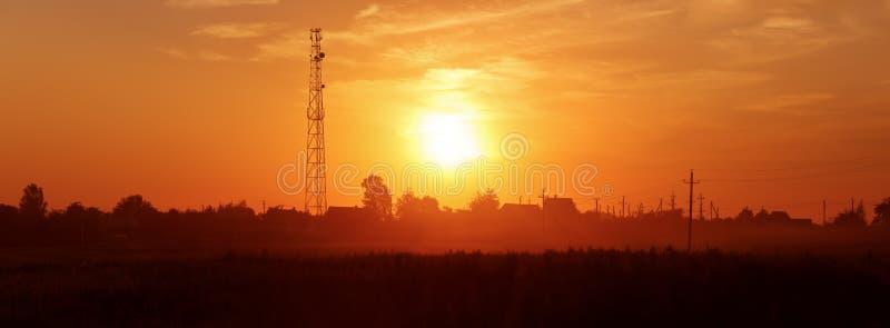 日落在乡下 免版税图库摄影