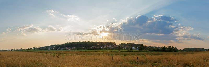 日落在乡下 免版税库存照片