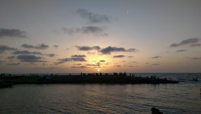 日落在亚历山大 免版税图库摄影