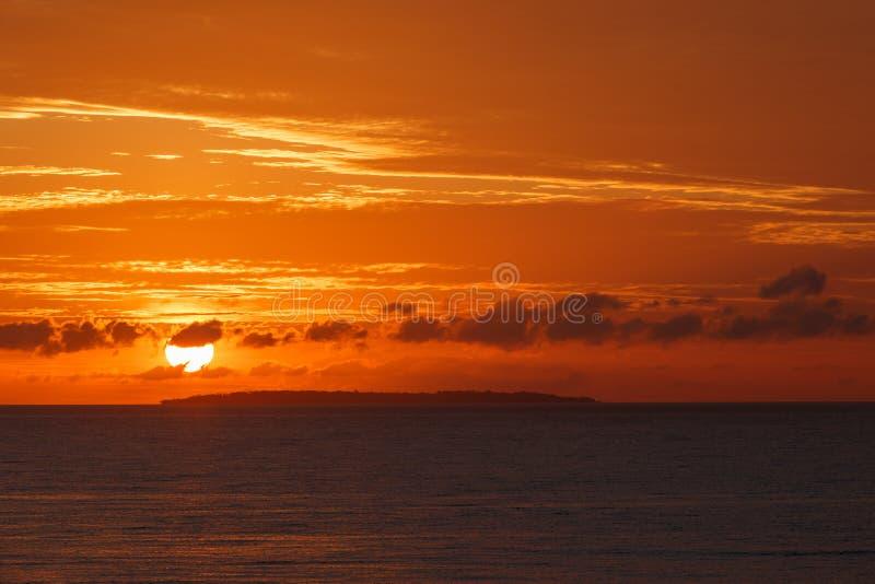 日落在保和省海岛 免版税库存图片