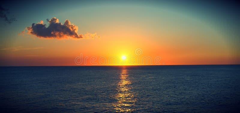 日落在内格里尔 库存照片