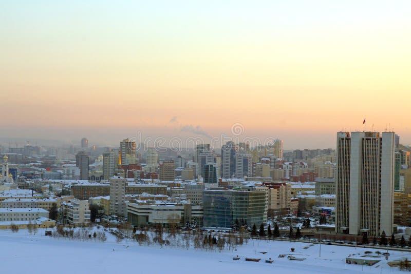 日落在叶卡捷琳堡 库存照片
