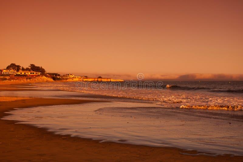 日落在圣克鲁斯 库存图片