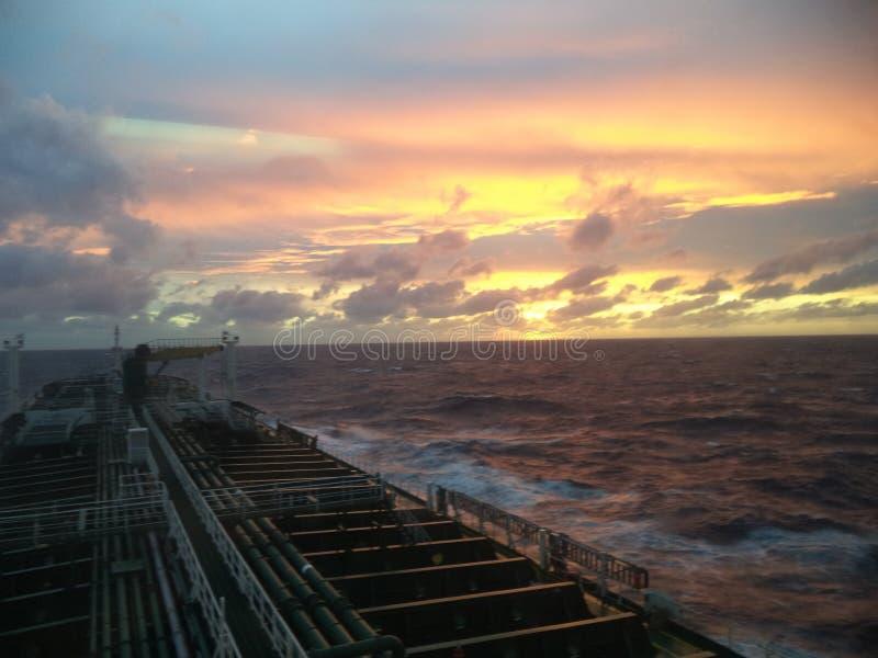 日落在大西洋 免版税图库摄影
