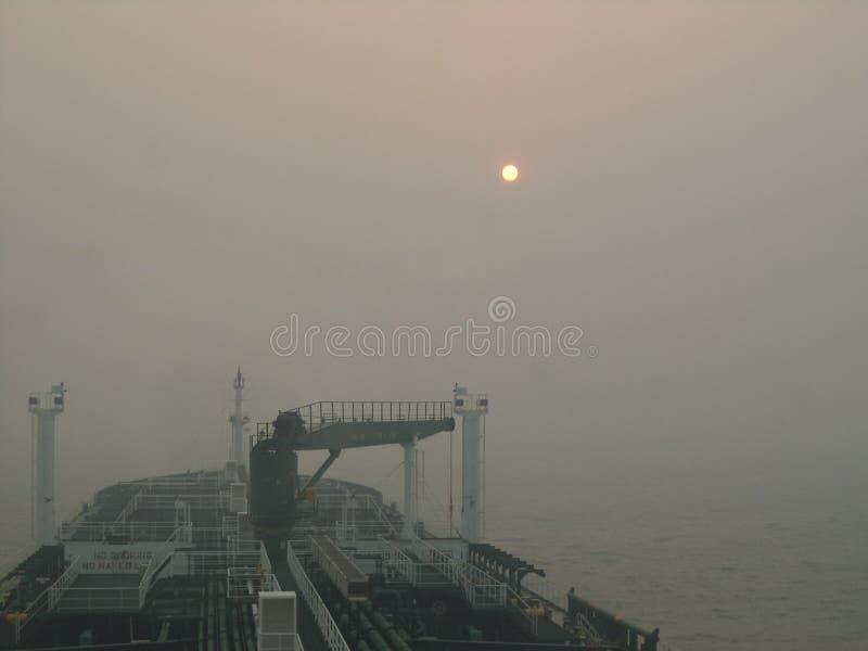 日落在大西洋 免版税库存照片
