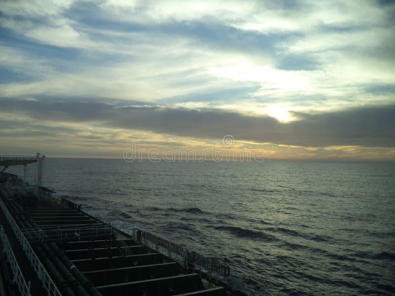 日落在大西洋 库存图片