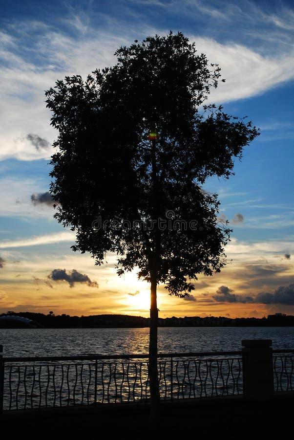 日落在布城 库存照片