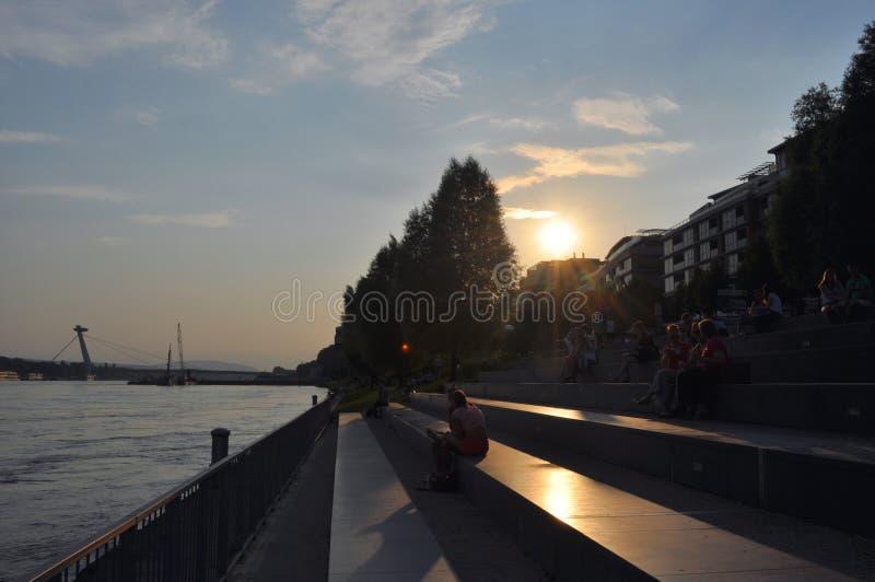 日落在布拉索夫 库存照片