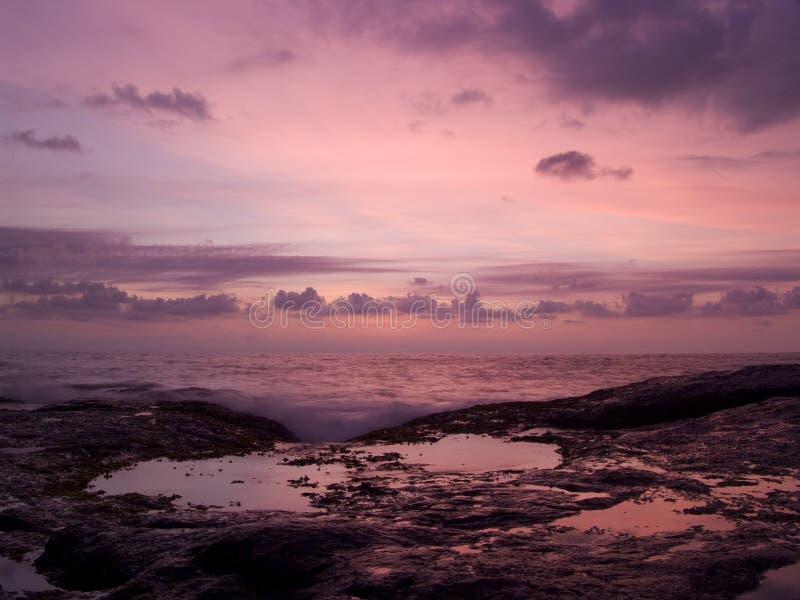 日落在斯里兰卡 免版税库存照片
