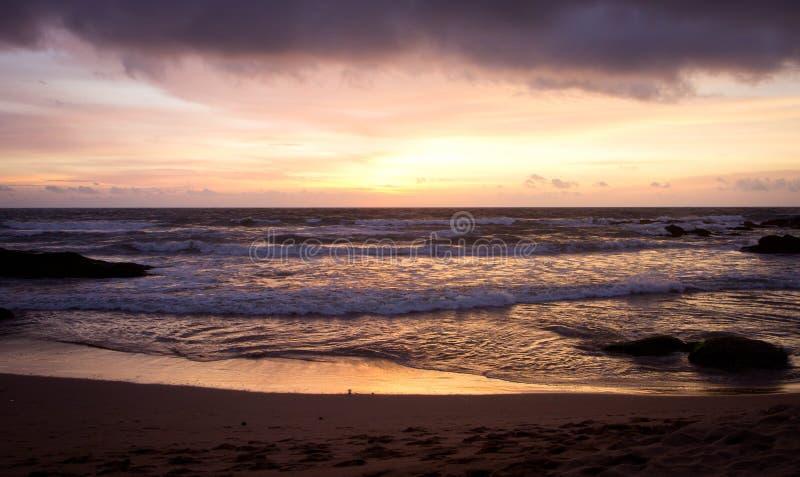日落在斯里兰卡 库存照片