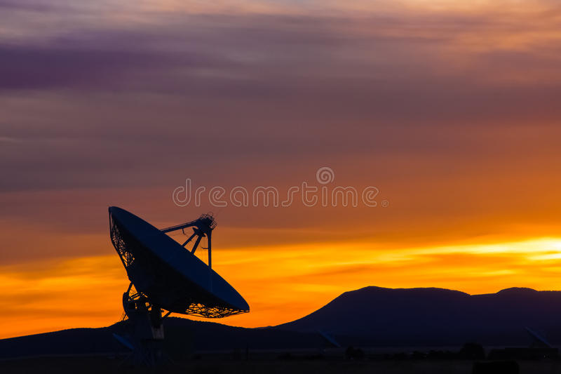 日落在新墨西哥高沙漠  库存照片