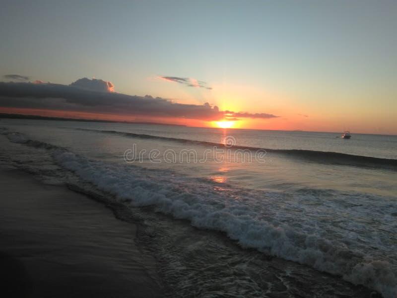日落在波多黎各 免版税库存照片