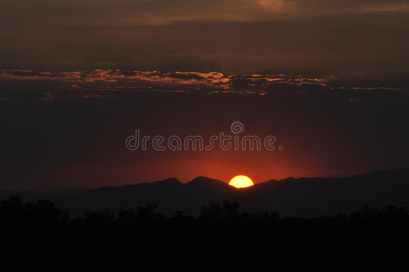 日落在波斯波利斯 免版税库存图片