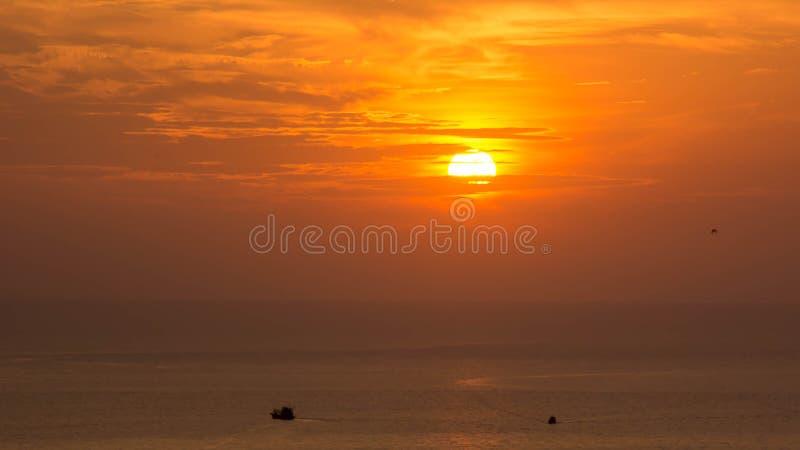 日落在海, Samae圣海岛 库存图片