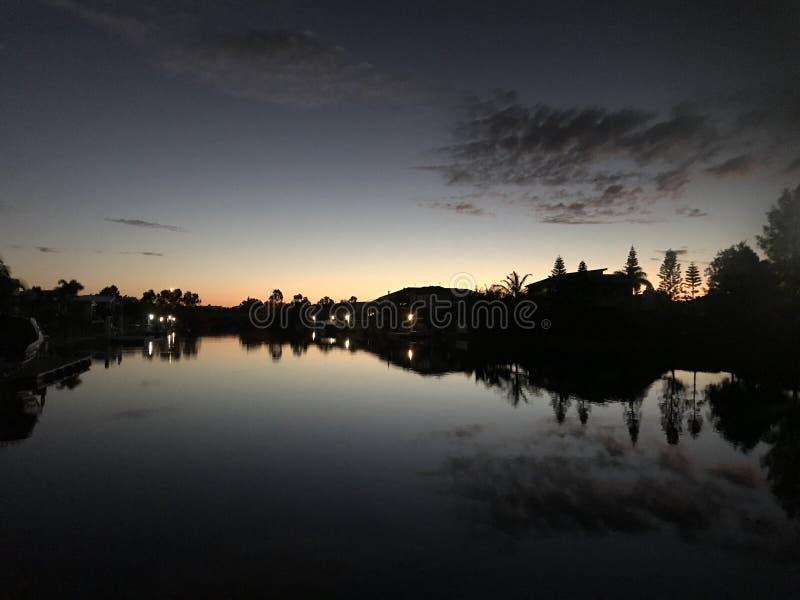 日落在澳洲 免版税库存图片