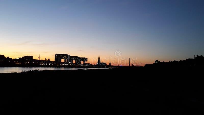 日落在科隆 图库摄影