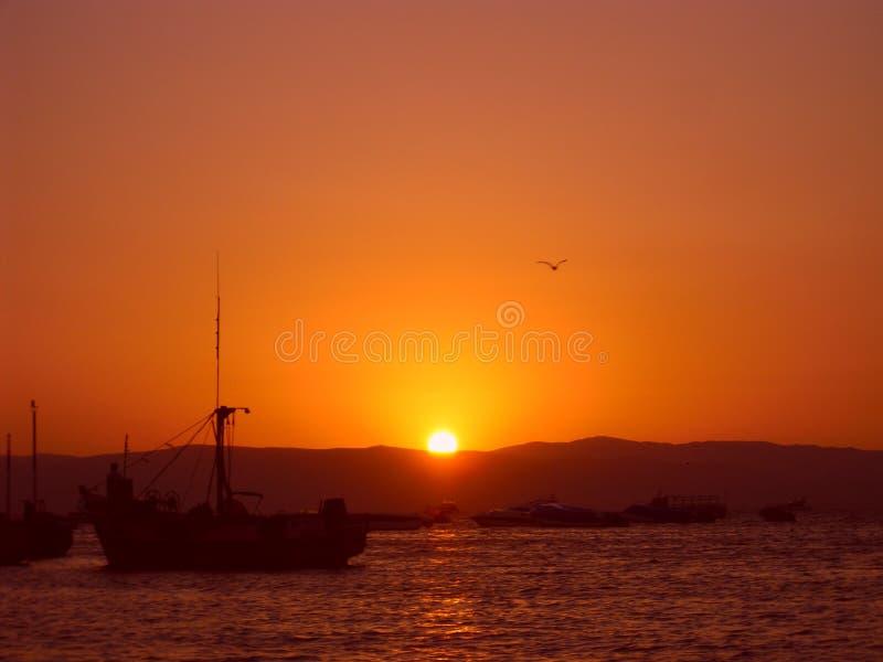 日落在秘鲁 免版税图库摄影
