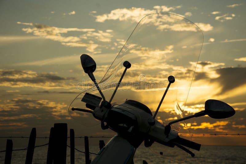 日落在诺德韦克 库存图片