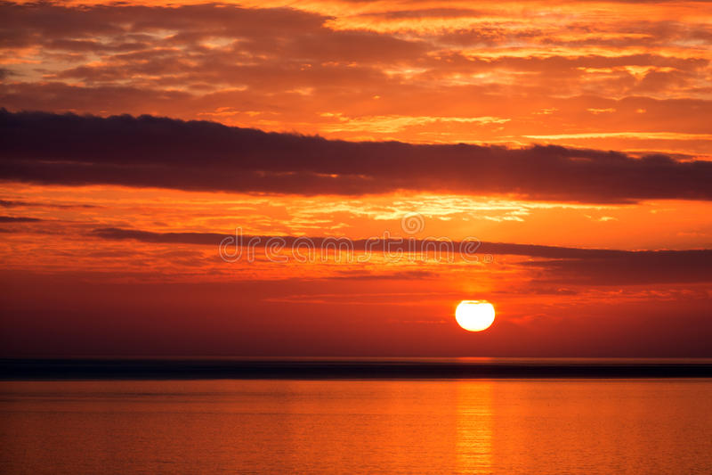 日落在冰岛 免版税库存图片