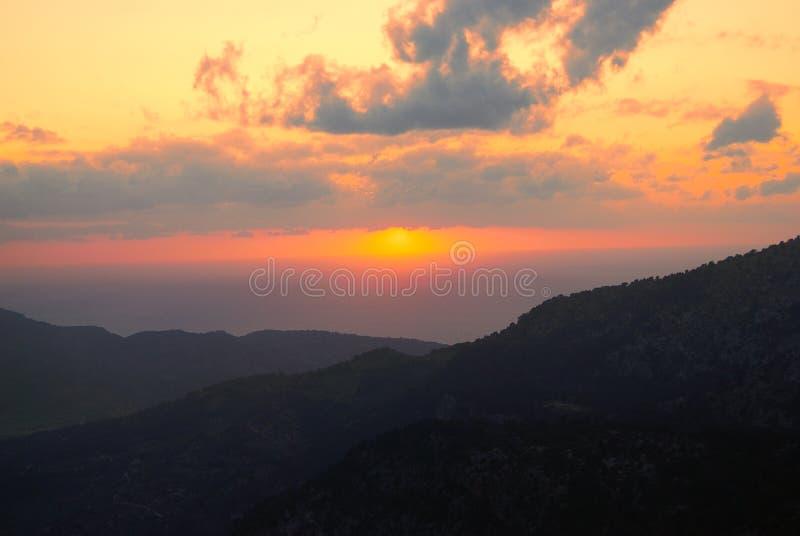 日落在马略卡2 免版税库存照片