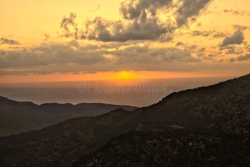 日落在马略卡1 库存照片