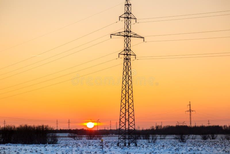 日落在12月 免版税图库摄影