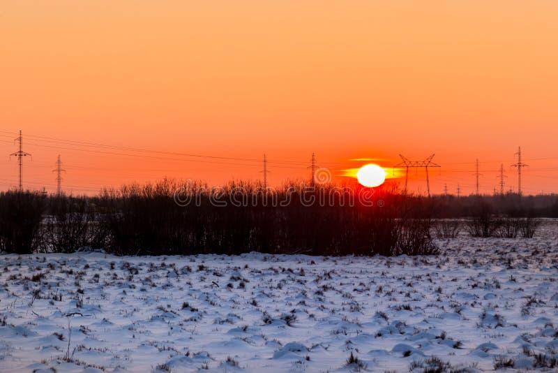 日落在12月 图库摄影