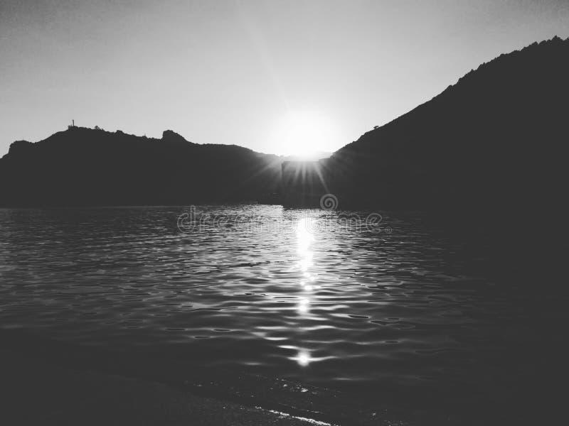 日落在Balaklava 图库摄影