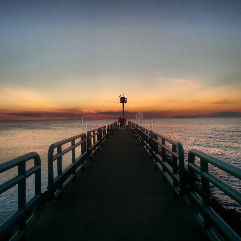 日落在Caseville -关键北部 图库摄影