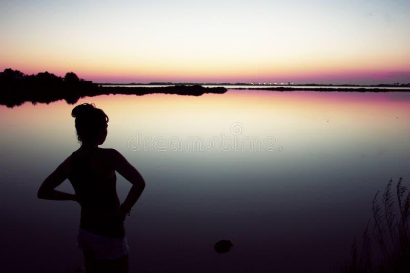 日落在Formentera 免版税库存图片