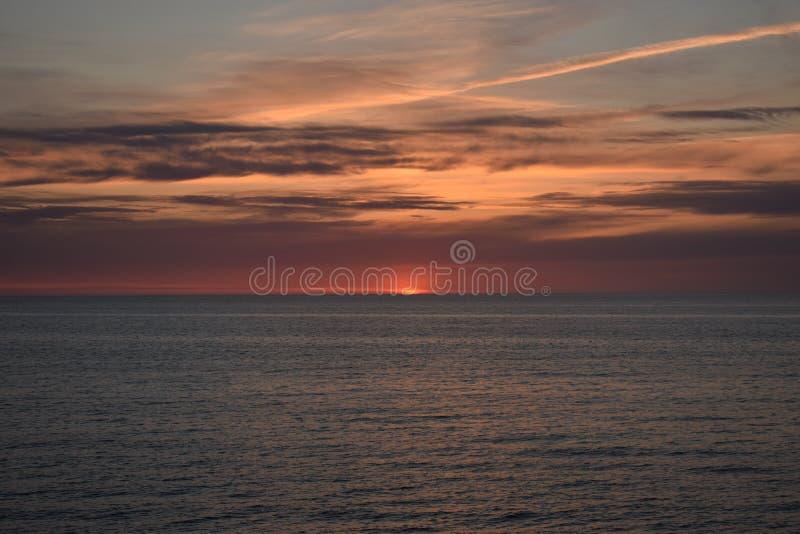 日落在Jurkalne 图库摄影