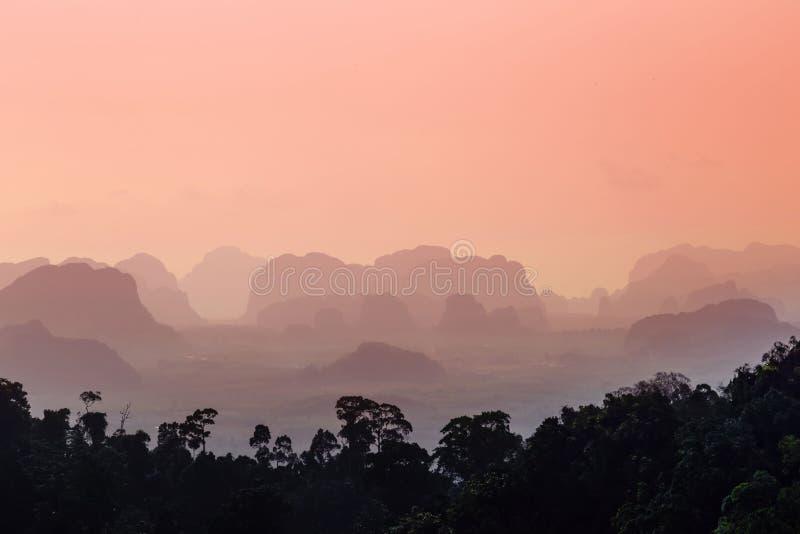 日落在Krabi泰国 图库摄影