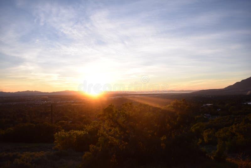 日落在Ogden 免版税库存图片