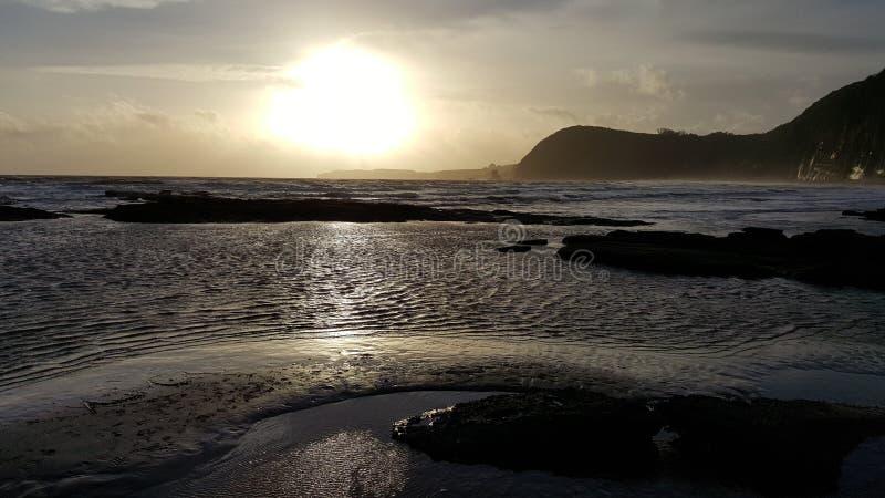 日落在Sidmouth 免版税库存图片