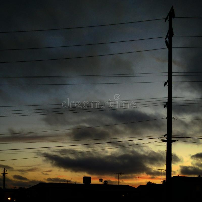 日落地平线 库存照片
