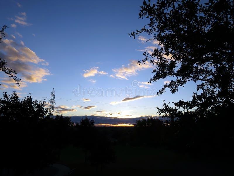 日落场面在Whitby,安大略 免版税库存照片
