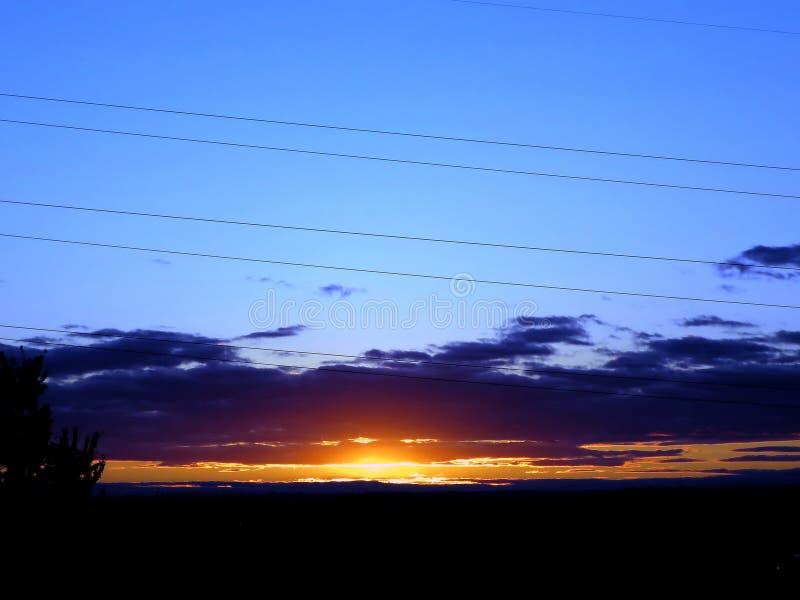 日落场面在Whitby,安大略 库存图片