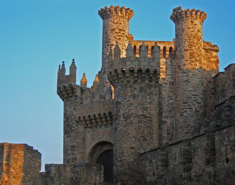 日落城堡 库存照片