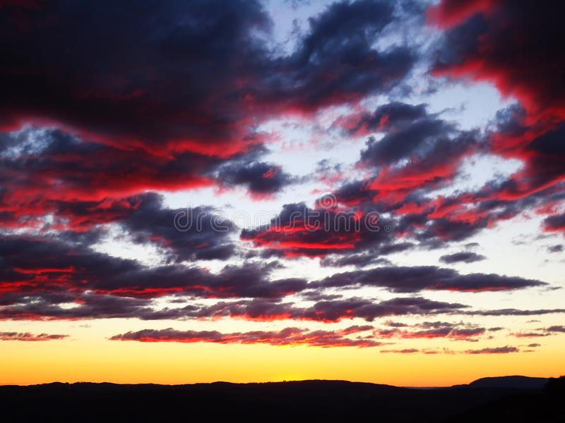 日落天空在悉尼 库存图片