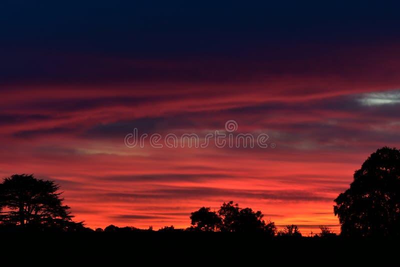 日落天空 库存图片