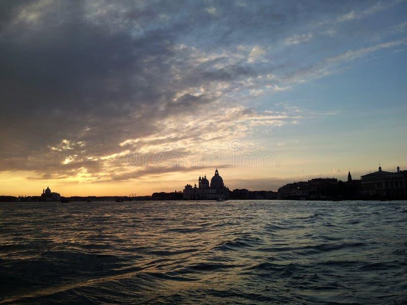 日落威尼斯 免版税图库摄影
