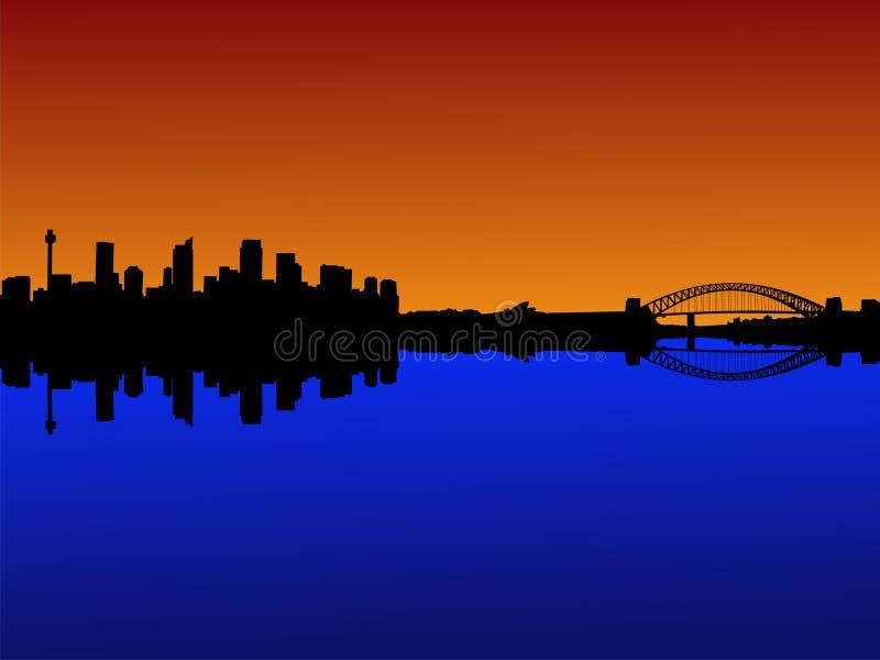 日落悉尼 库存例证