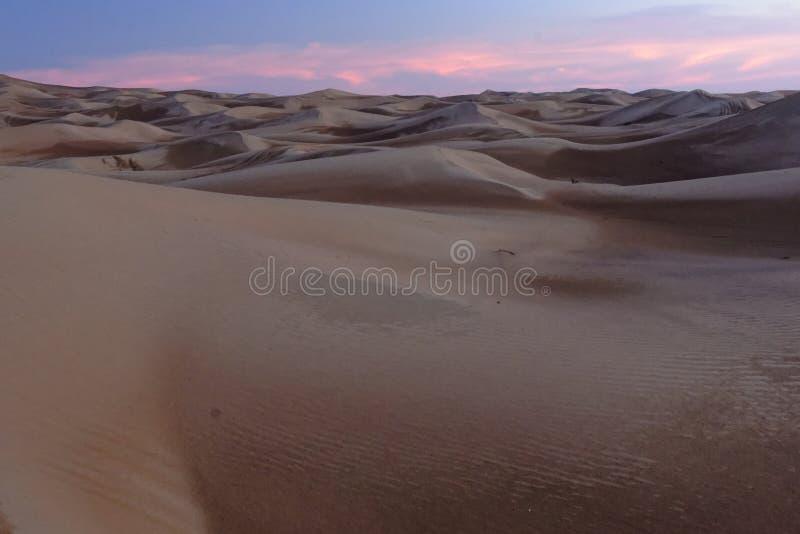 日落日出沙漠沙丘 库存照片