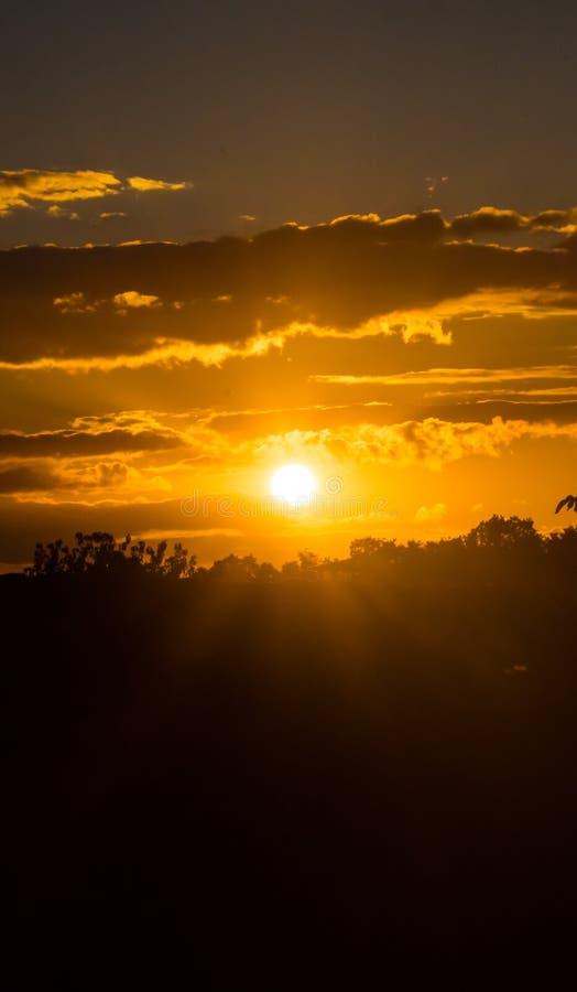 日落时的天空 图库摄影