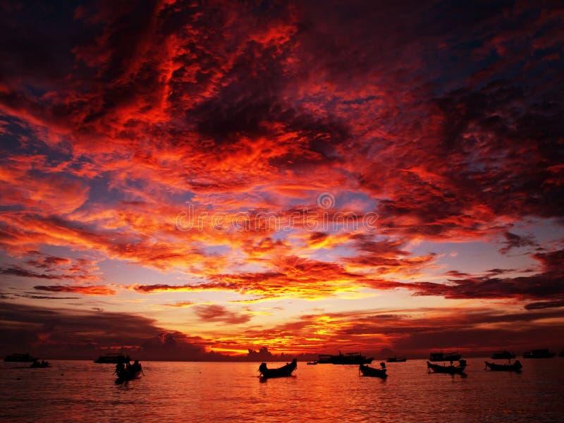 日落泰国 免版税库存图片