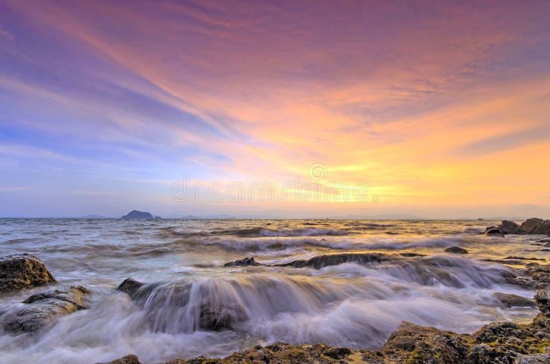 日落泰国 库存图片