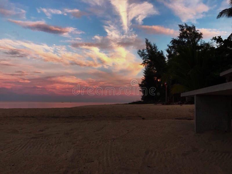 日落海滩 免版税图库摄影