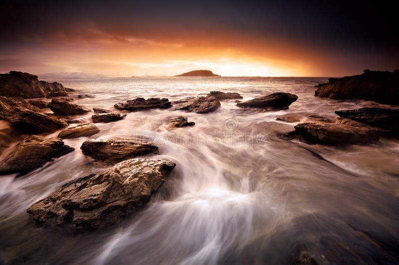 日落漩涡 库存图片