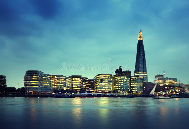 日落的伦敦市 库存图片