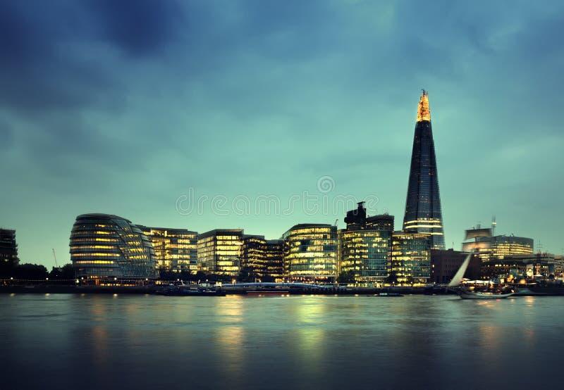 日落的伦敦市 免版税库存图片